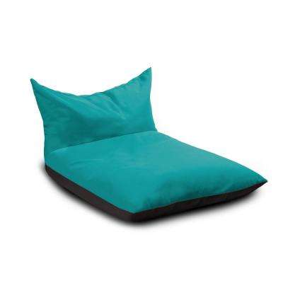Finster Aruba Blue Armless Bean Bag Removable Cover Chaise Outdoor Lounge Chair with Sling Sunbrella