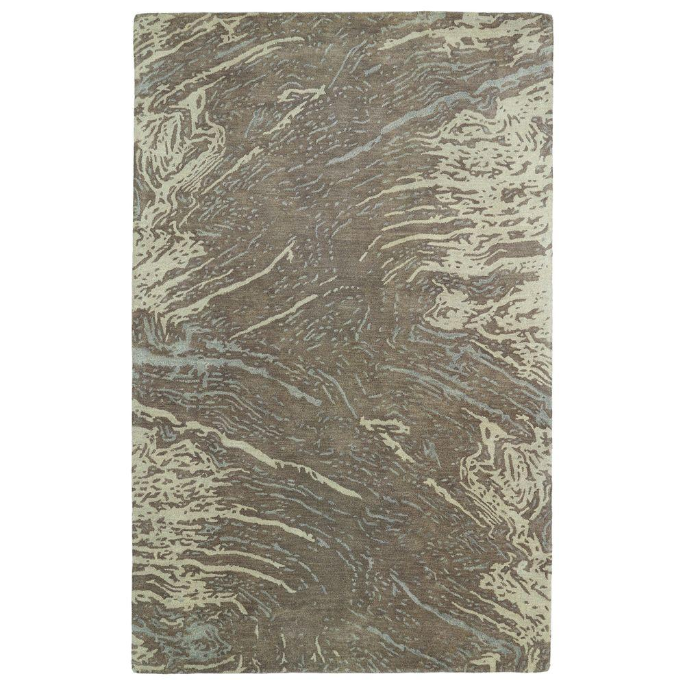 Brushstrokes Brown 9 ft. 6 in. x 13 ft. Area Rug