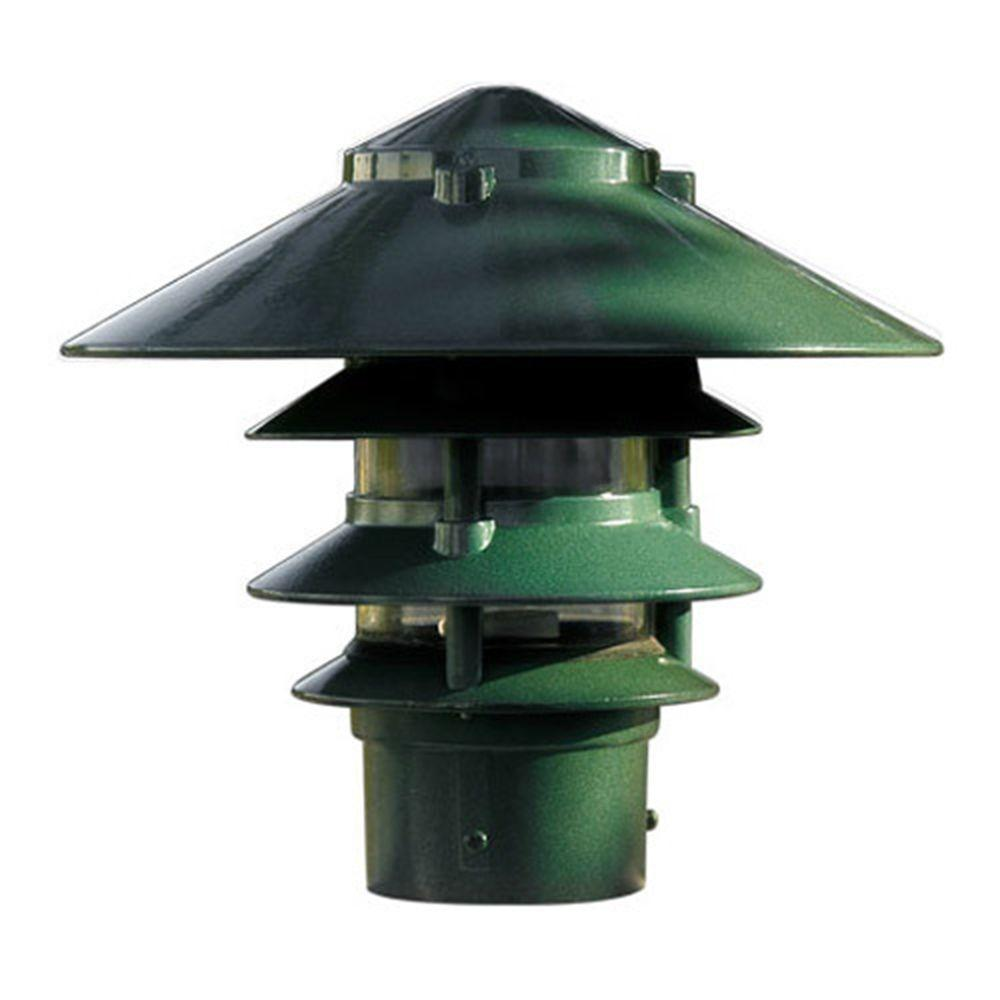 Porch Light Green: Filament Design Corbin 1-Light Green 4-Tier Outdoor Pagoda