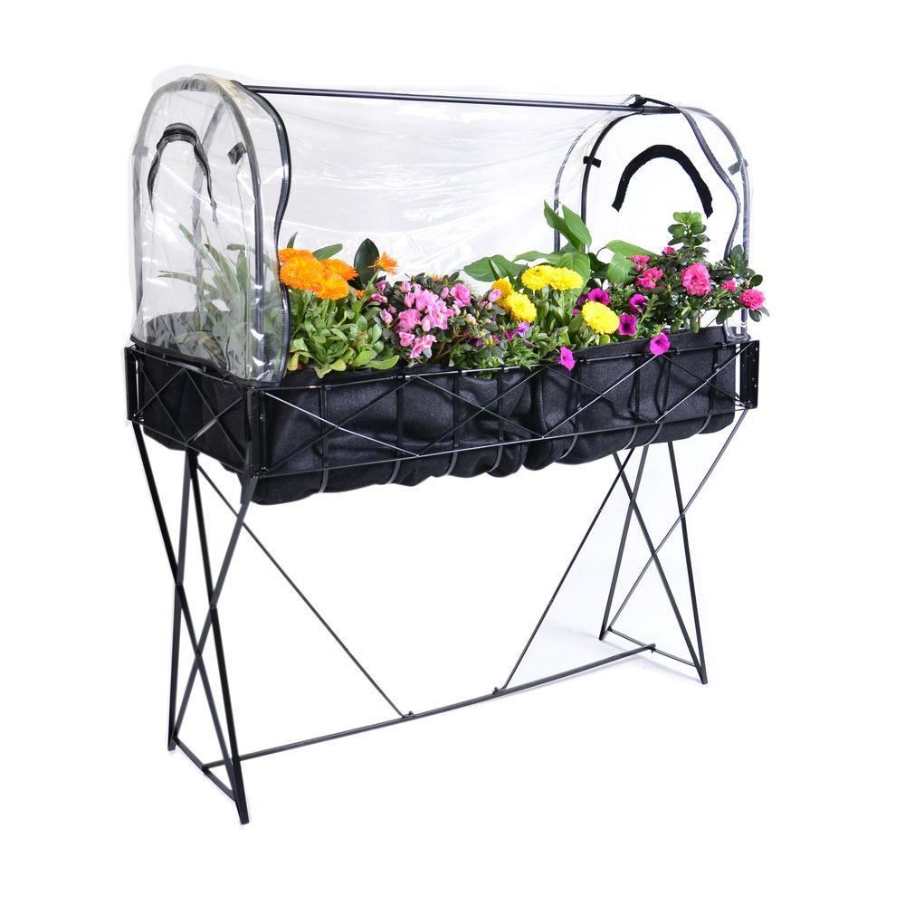 null Stand-Up Raised Garden Bed with Greenhouse Cover and Shade Cover-DISCONTINUED