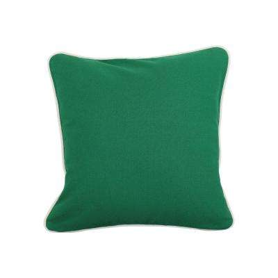 16 in. x 16 in. Emerald  Standard Pillow with Green Eco Friendly Insert
