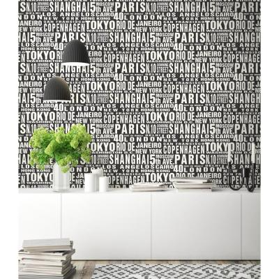 Around the World Vinyl Peelable Wallpaper (Covers 30.75 sq. ft.)
