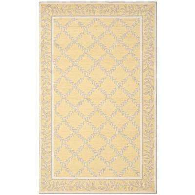 Chelsea Yellow/Gray 5 ft. x 8 ft. Area Rug