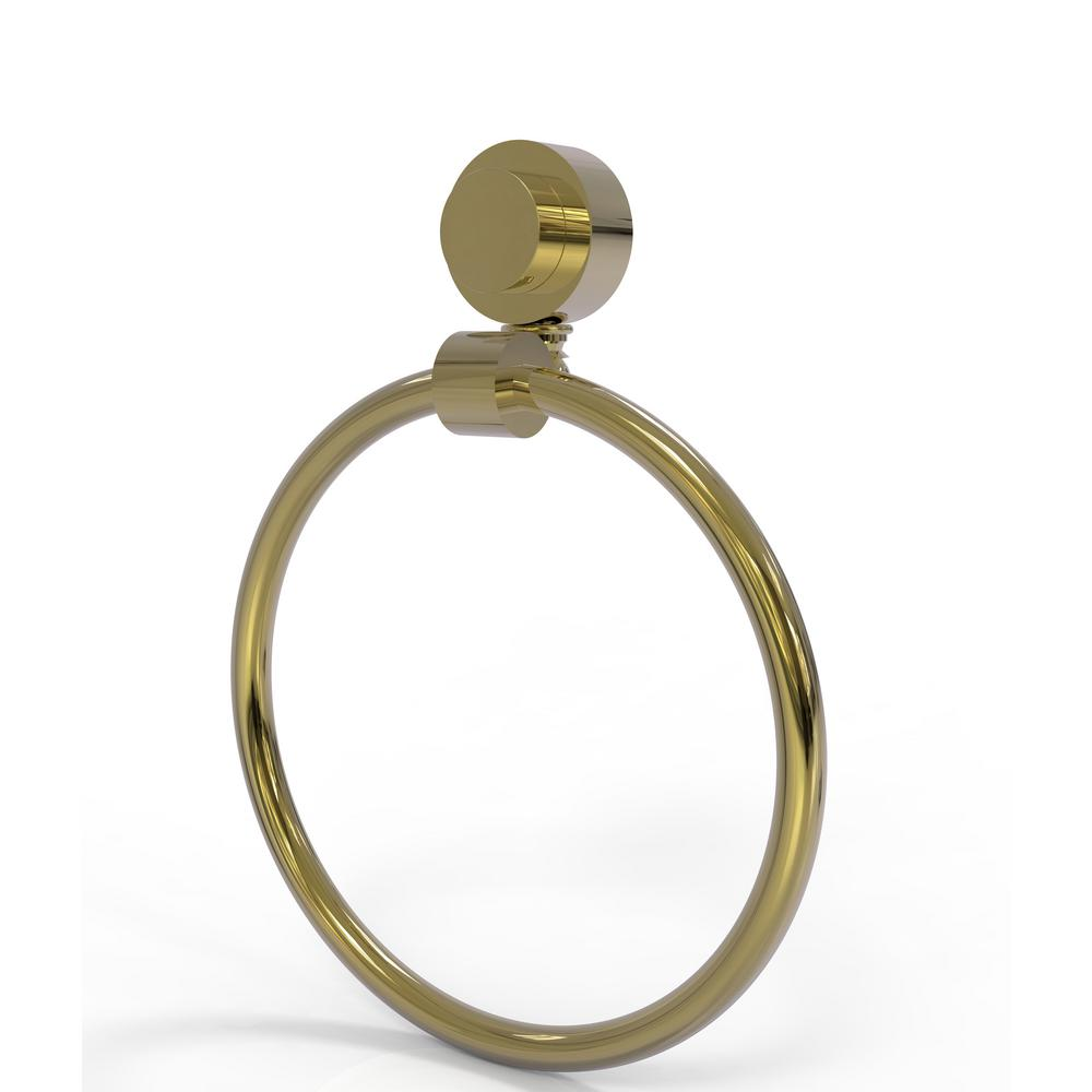 Allied Brass Venus Collection Towel Ring in Unlacquered Brass