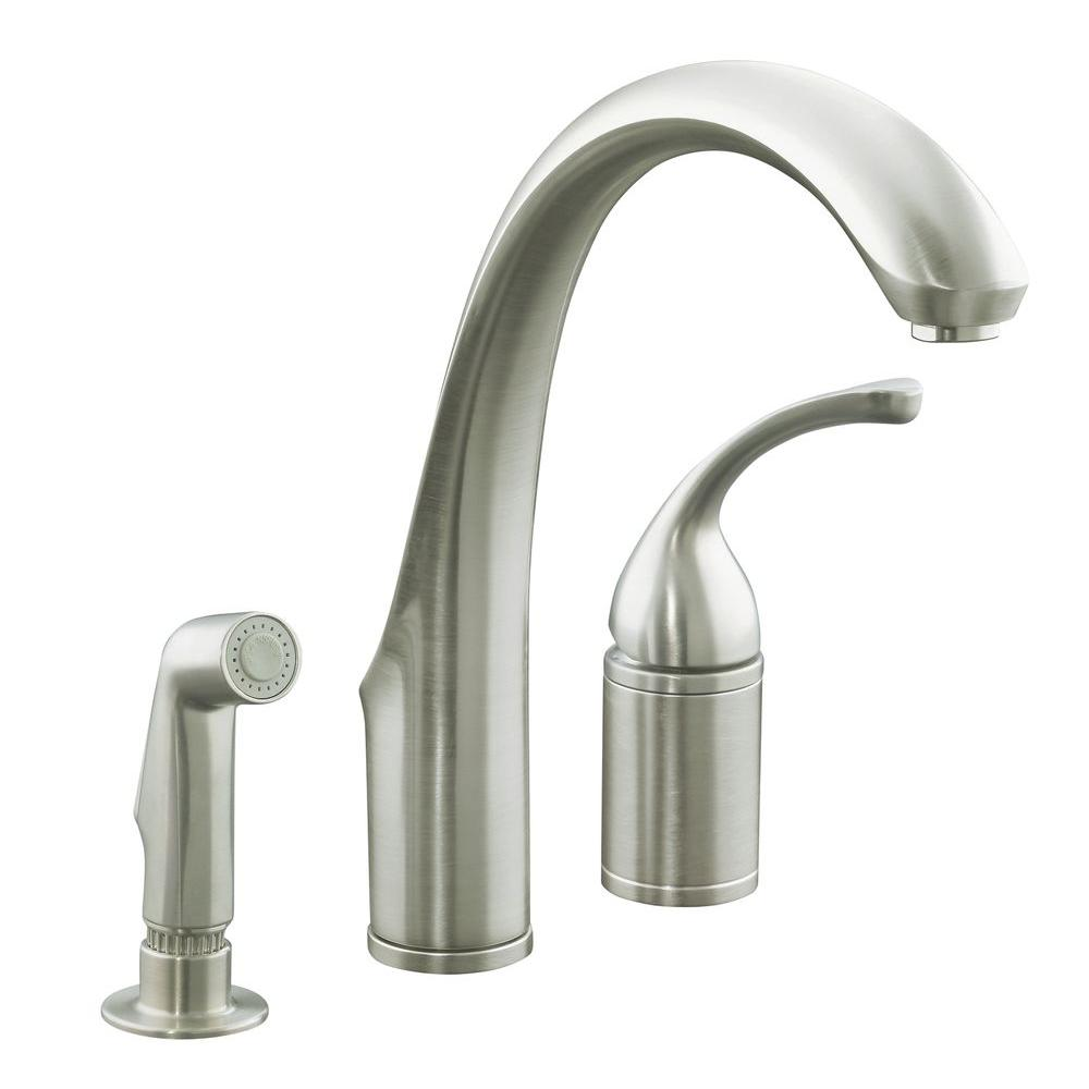 brushed nickel kitchen faucet kohler forte single handle standard kitchen faucet with 16508