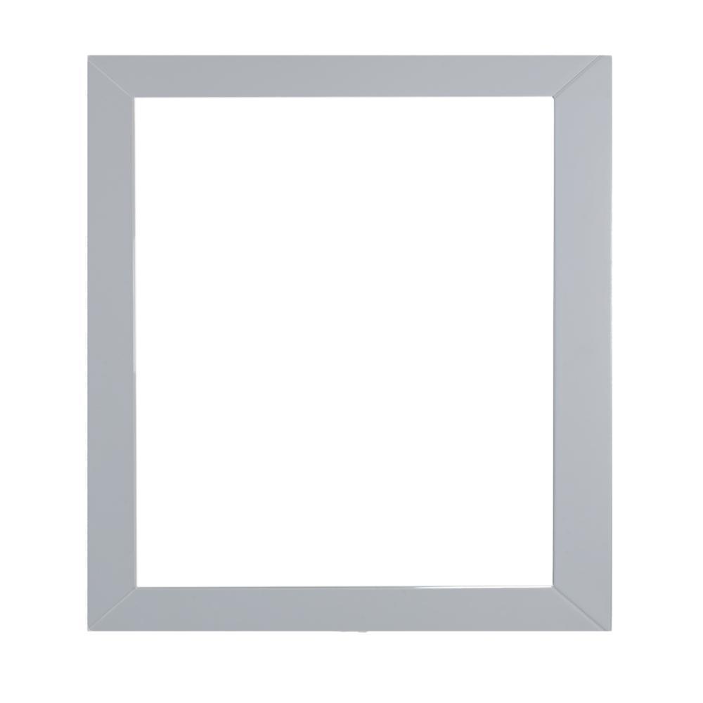 Aberdeen 30 in. W x 30 in. H Framed Rectangular Bathroom Vanity Mirror in Grey