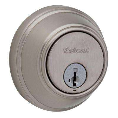 816 Series Single Cylinder Satin Nickel Key Control Deadbolt featuring SmartKey