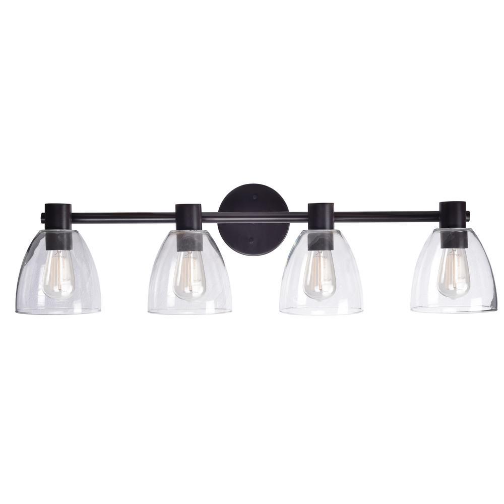 Kenroy Bathroom Vanity Light: Kenroy Home Edis 4-Light Bronze Bath Light Vanity-92094ORB