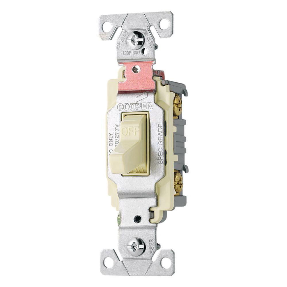 20 Amp Double Pole Premium Toggle Switch, Light Almond