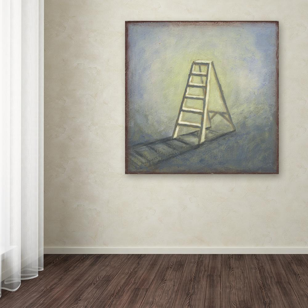 "14 in. x 14 in. ""Ladder"" by Rachel Paxton Printed Canvas"