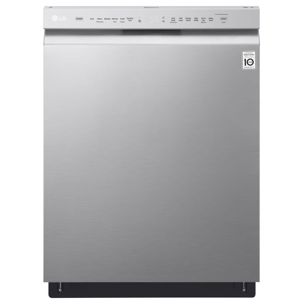 LG Electronics LG Electronics Front Control Tall-Tub Dishwasher in Stainless Steel with Stainless Steel Tub, 48 dBA, Silver