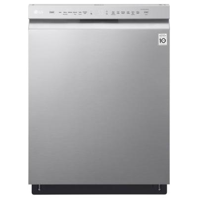 LG Electronics 24 in. Front Control Built-In Tall Tub Dishwasher in Stainless Steel with QuadWash and Stainless Steel Tub, 48 dBA