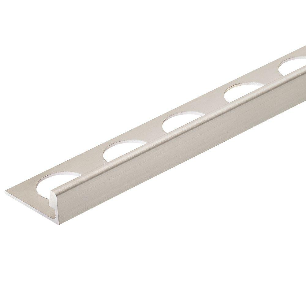 Satin Nickel Anodized 3/8 in. x 98-1/2 in. Aluminum L-Shaped Tile