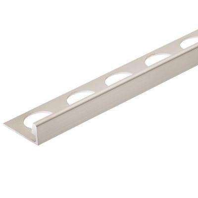 Satin Nickel Anodized 3/8 in. x 98-1/2 in. Aluminum L-Shaped Tile Edging Trim