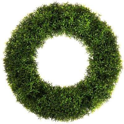 20 in. Round Grass Wreath