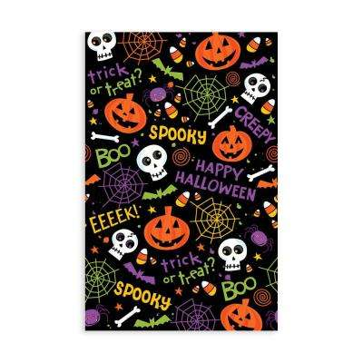 84 in. Spooktacular Rectangular Plastic Table Cover (3-Count, 2-Pack)