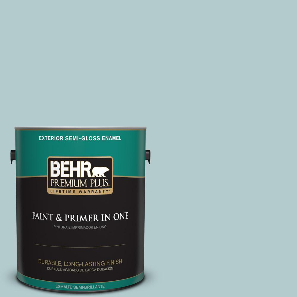 1 gal. #PPU13-15 Clear Pond Semi-Gloss Enamel Exterior Paint