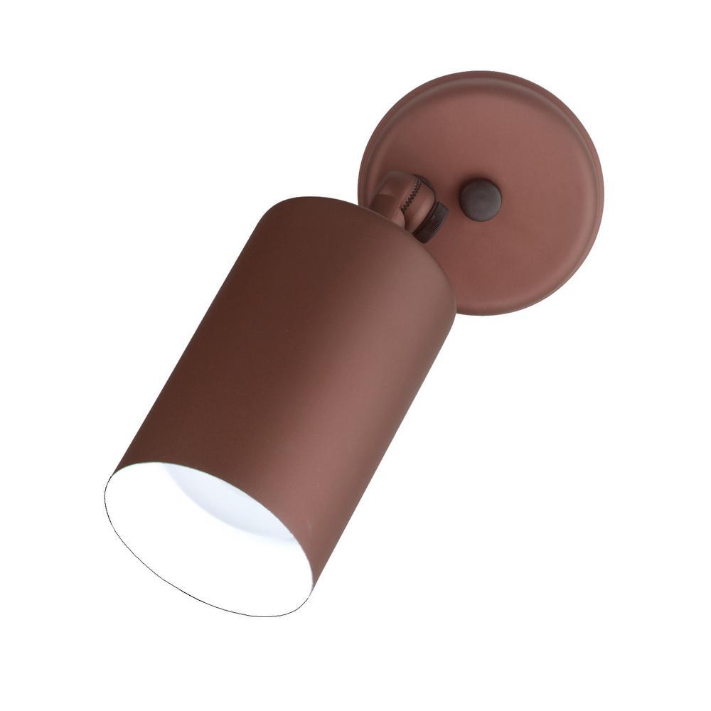 Single Bullet 75-Watt Bronze Outdoor Wall Lantern Sconce