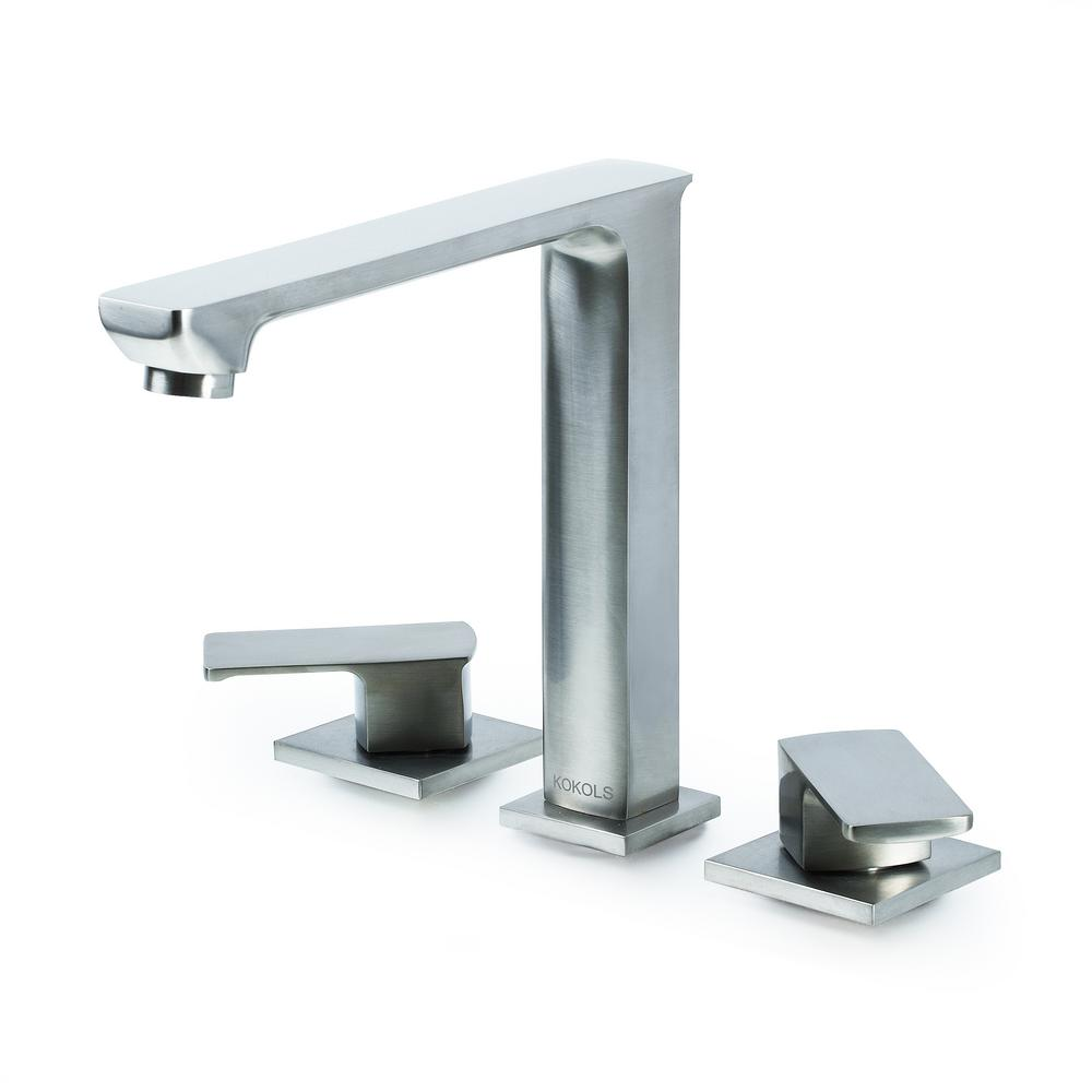 Kokols hadraniel 8 in widespread 2 handle high arc for 8 bathroom faucet in brushed nickel
