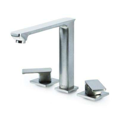 Hadraniel 8 in. Widespread 2-Handle High-Arc Bathroom Faucet in Brushed Nickel
