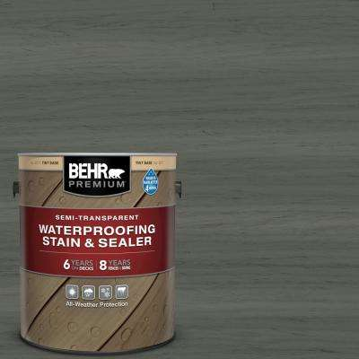 1 gal. #ST-131 Pewter Semi-Transparent Waterproofing Exterior Wood Stain and Sealer