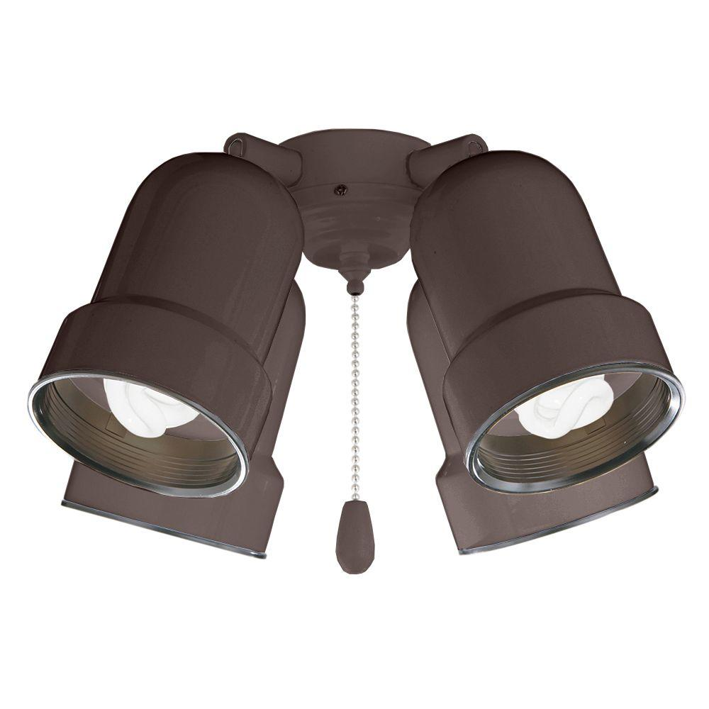 Illumine Zephyr 4-Light Oil-Rubbed Bronze Ceiling Fan Light Kit
