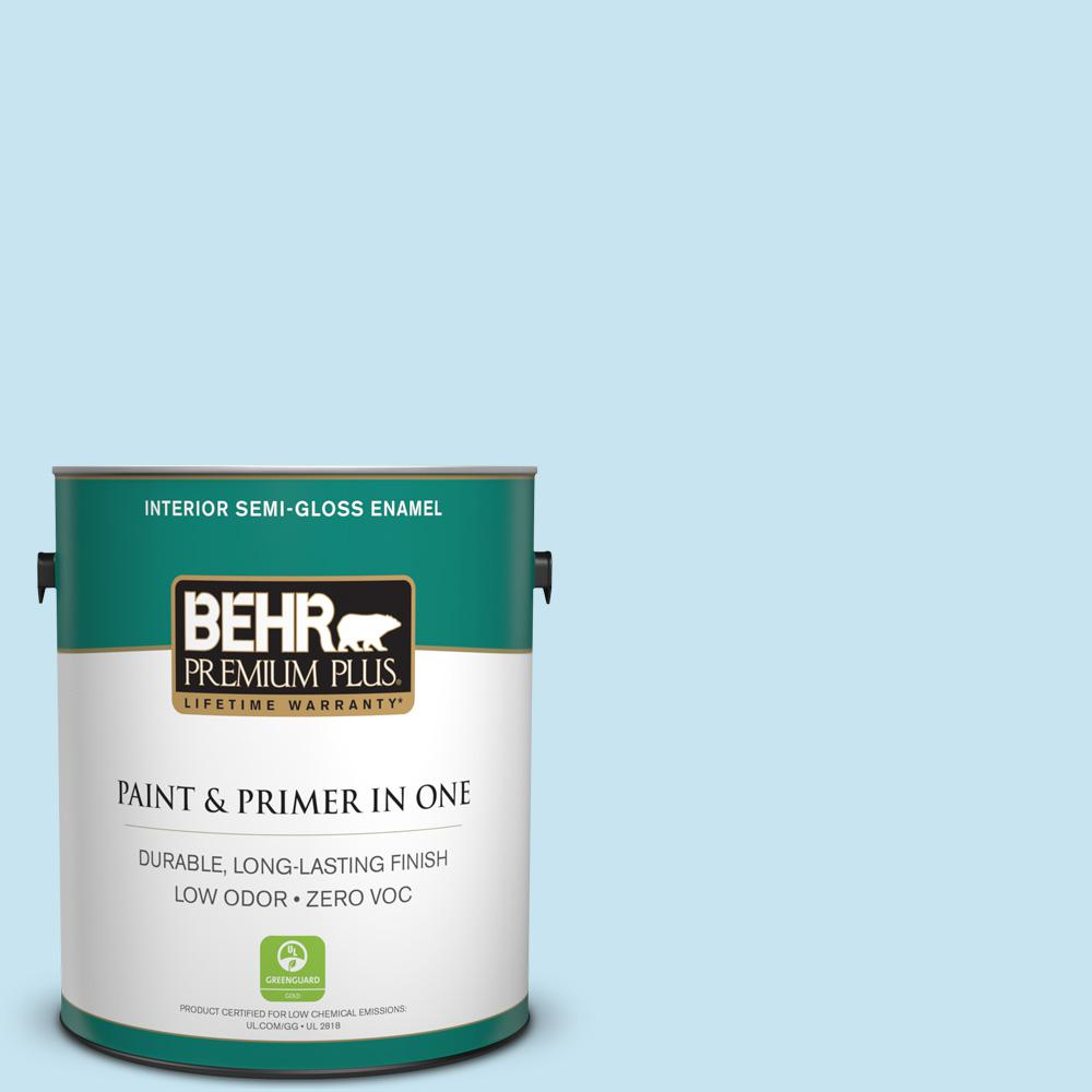 BEHR Premium Plus 1-gal. #550C-2 Sapphireberry Zero VOC Semi-Gloss Enamel Interior Paint