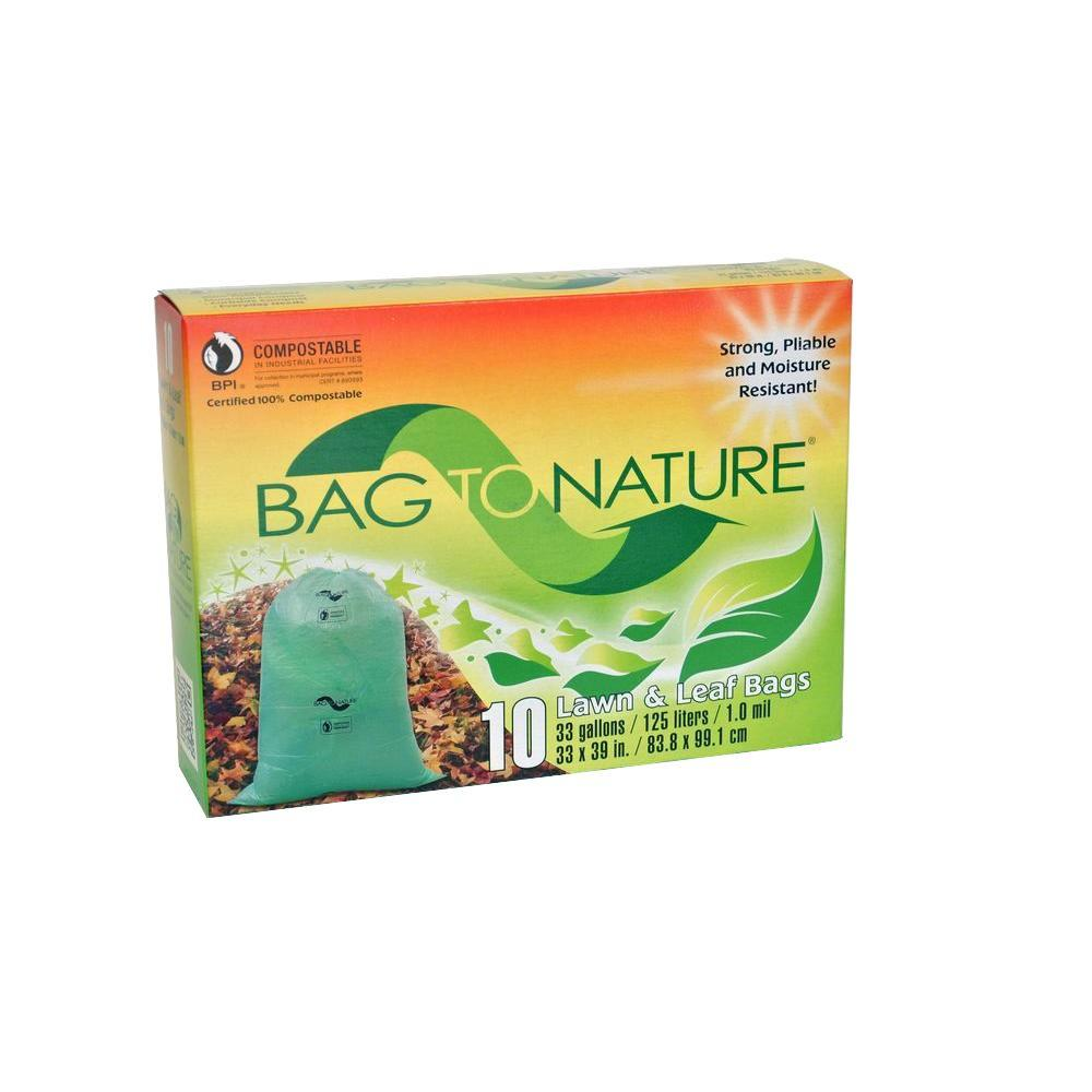 Bag To Nature 33 Gal Compole Leaf And Yard 10 Count