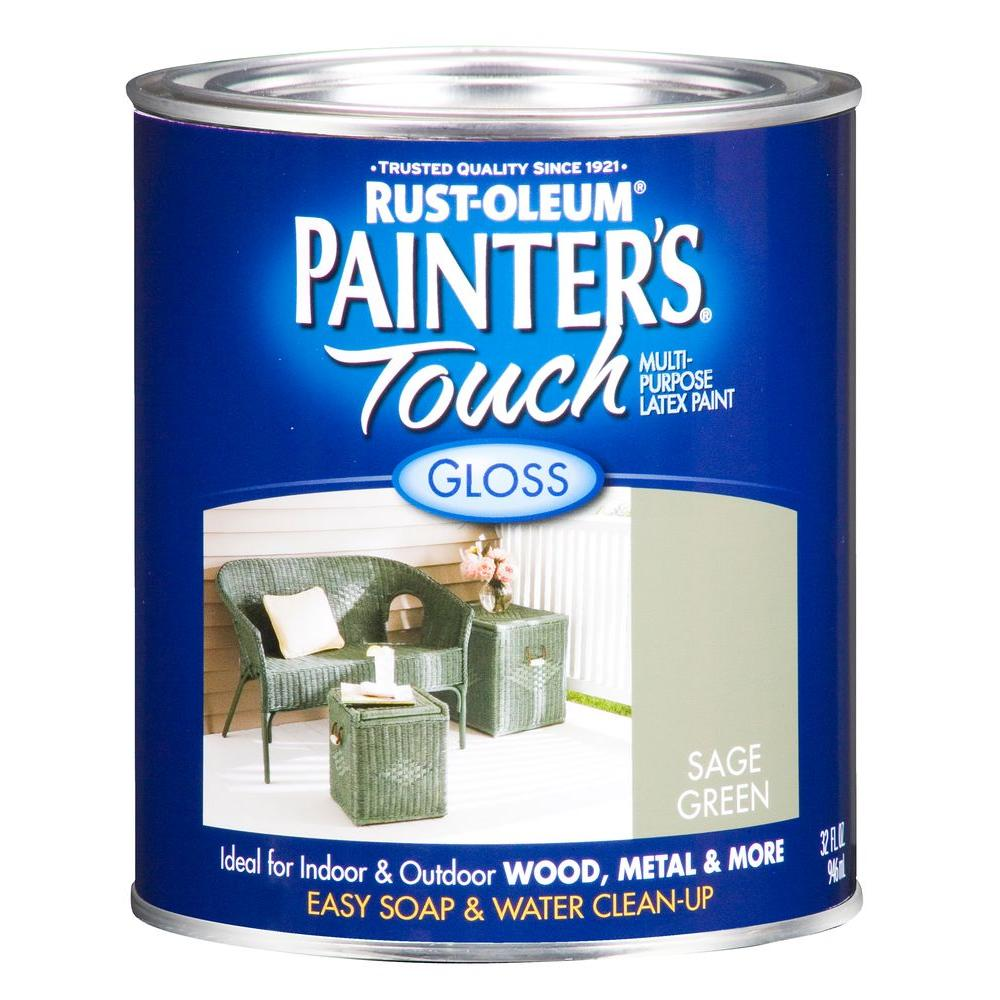 Rust-Oleum Painter's Touch 32 oz. Ultra Cover Gloss Sage Green General Purpose Paint (Case of 2)