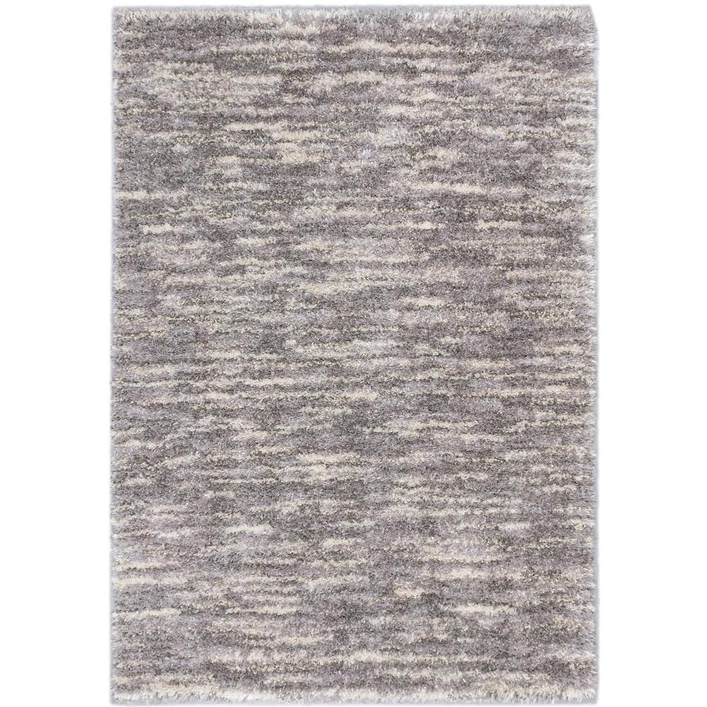 Exceptional ECarpet Gallery Yeti Cream, Light Grey Shag 5 Ft. 3 In. X 7