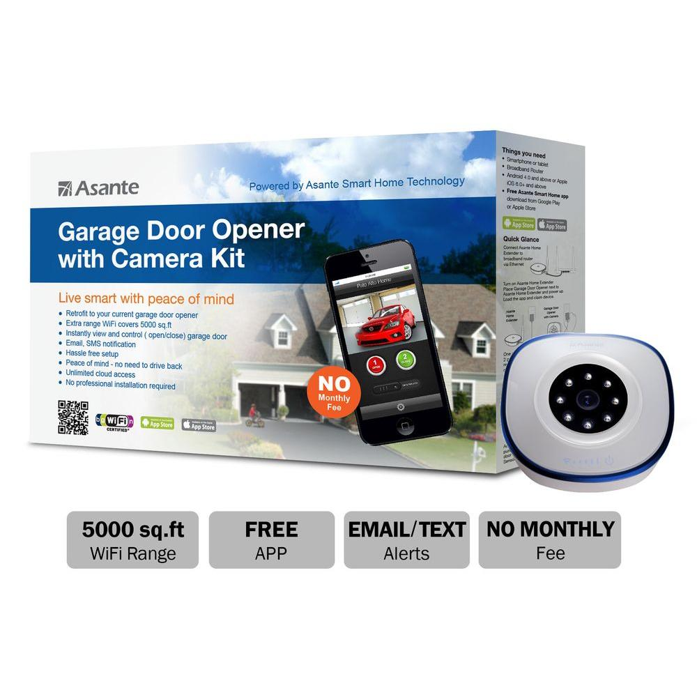 Asante Garage Door Opener With Camera Kit Live Streaming 99 00900