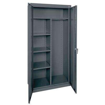 Classic Series 72 in. H x 36 in. W x 18 in. D Steel Combination Cabinet with Adjustable Shelves in Charcoal