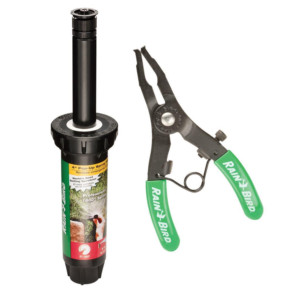 1804 Adjustable Pattern 4 in. Pop-Up Spray Head and Pop-Up Sprinkler Repair Tool Bundle