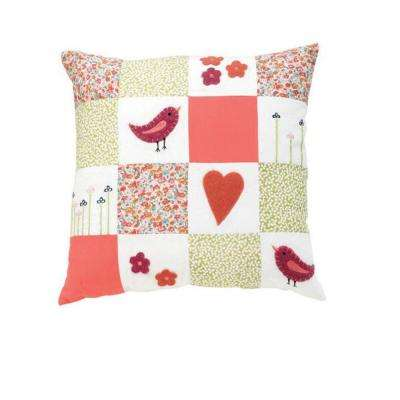 Birds 18 in. Square Decorative Pillow
