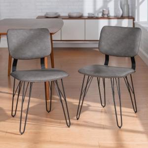 Strange Walker Edison Furniture Company Flax Back Grey Accent Dining Uwap Interior Chair Design Uwaporg