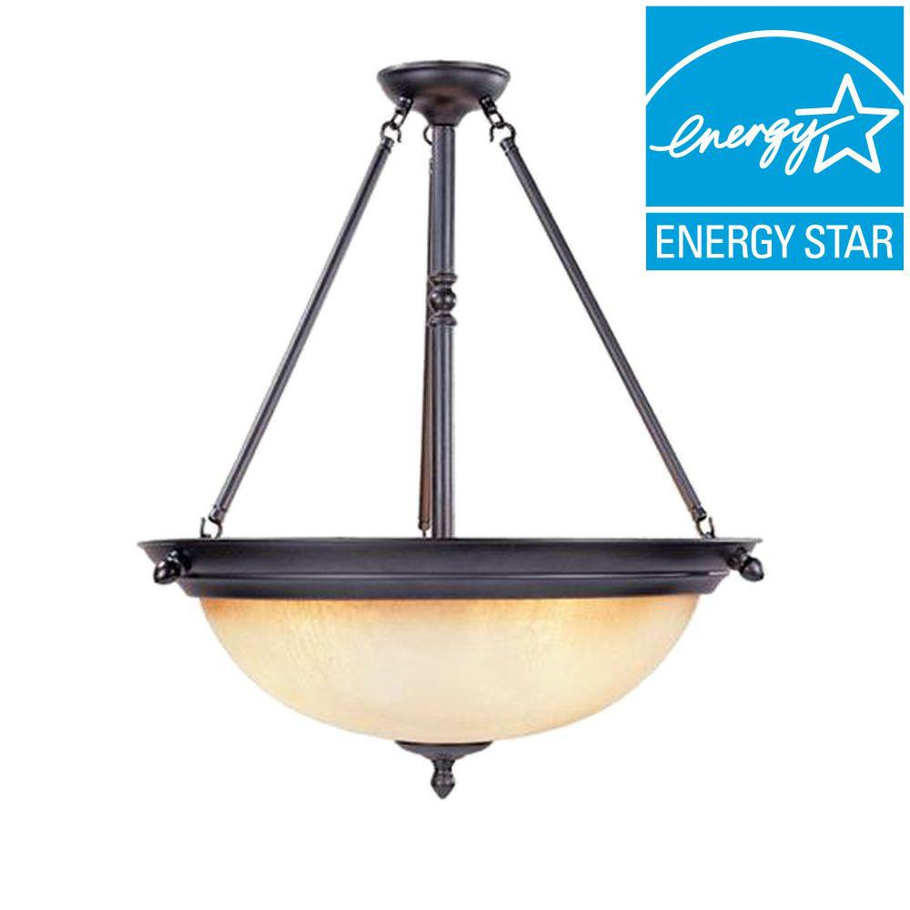 Designers Fountain Lincoln Collection 1-Light Oil Rubbed Bronze Hanging Pendant