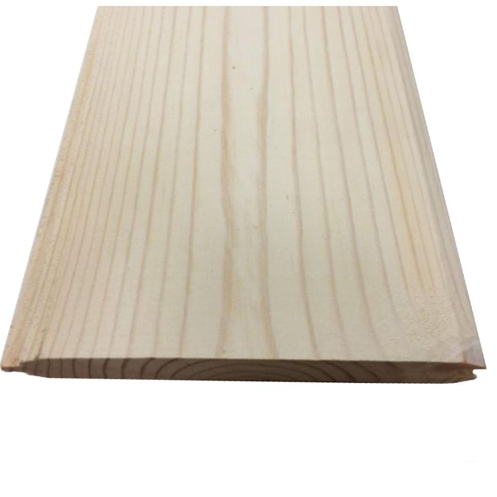 Silvastar 1 in x 6 in x 8 ft beach cottage white spf for 2x6 log siding