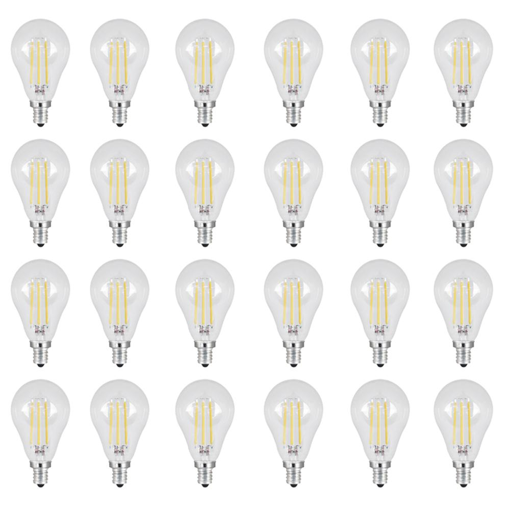 40W Equivalent Daylight (5000K) A15 Candelabra Dimmable Filament LED Clear Glass