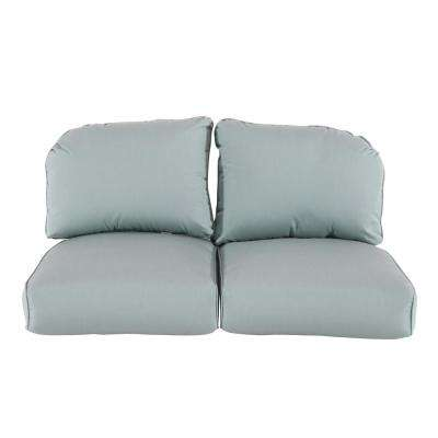 Camden Sunbrella Canvas Spa Replacement Outdoor Loveseat Cushions
