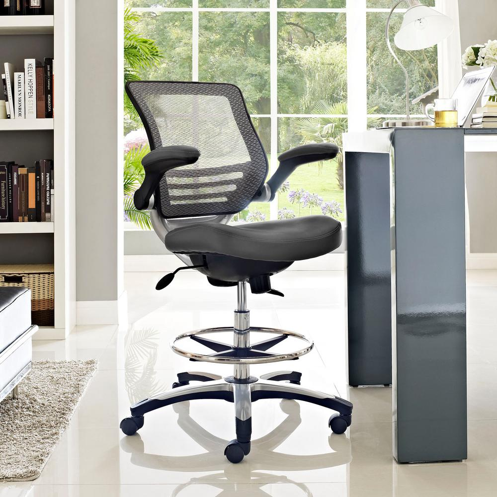 Modway Edge Drafting Stool In Gray Eei 211 Gry The Home