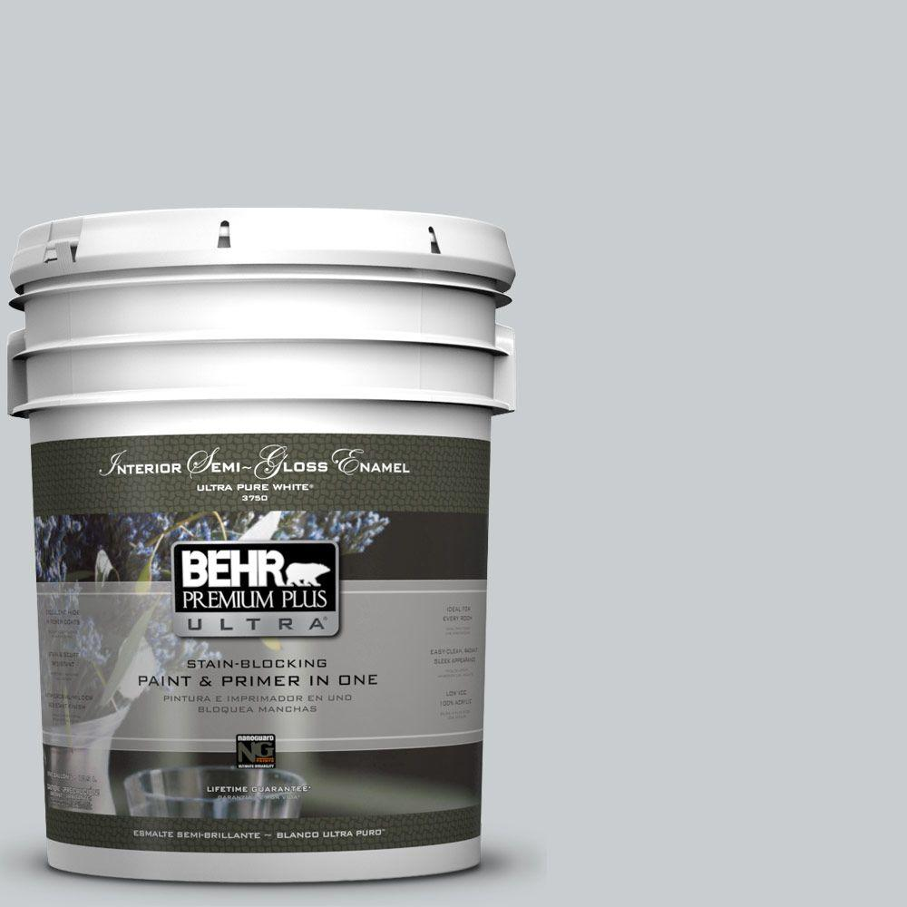 BEHR Premium Plus Ultra 5-gal. #N500-2 Loft Space Semi-Gloss Enamel Interior Paint