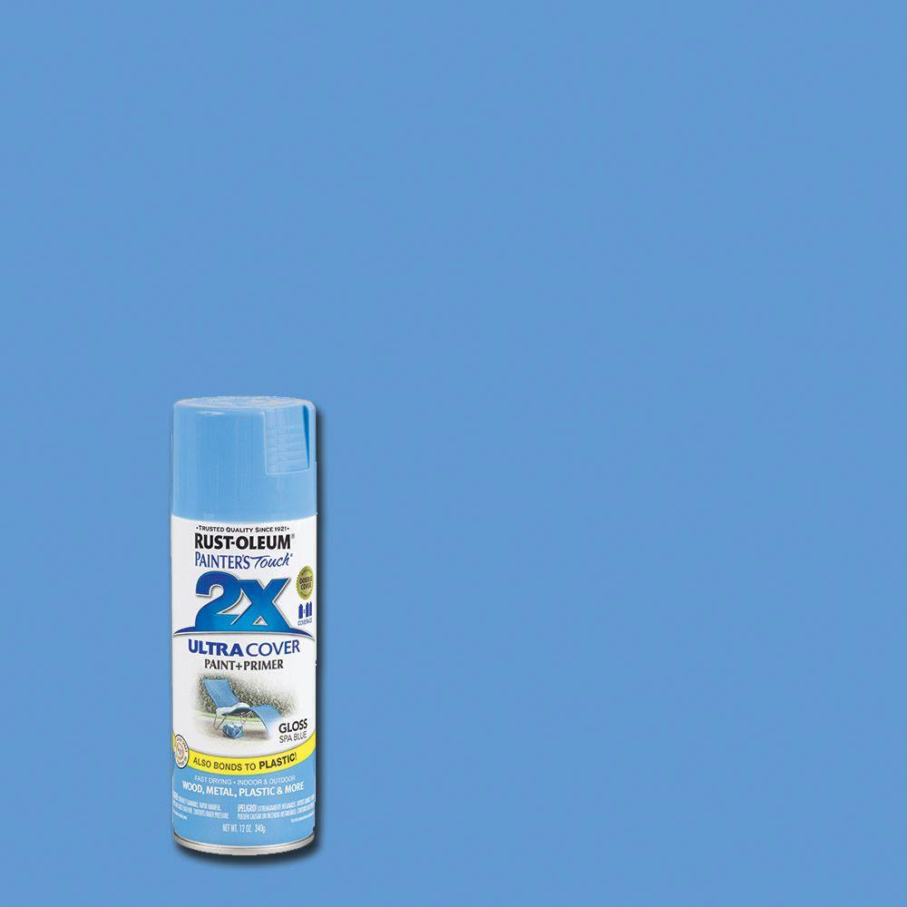 Rust-Oleum Painter's Touch 2X 12 oz. Gloss Spa Blue General Purpose Spray Paint