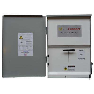 Manual Transfer Switch with 30 Amp Inlet for Generator Connection