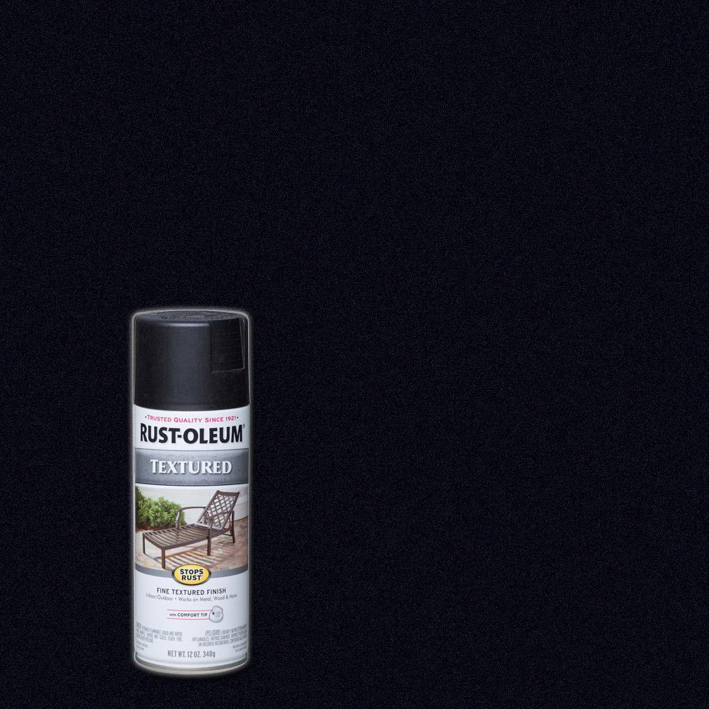 Rust-Oleum Stops Rust 12 oz. Textured Black Protective Spray Paint