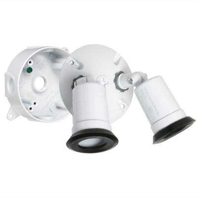 White Outdoor Flood Light Weatherproof Lampholder Kit