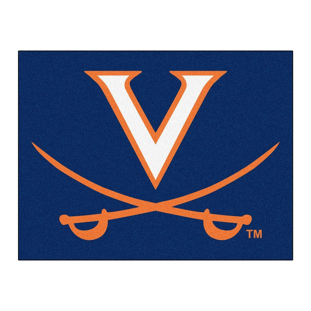 NCAA University of Virginia Blue 2 ft. 10 in. x 3
