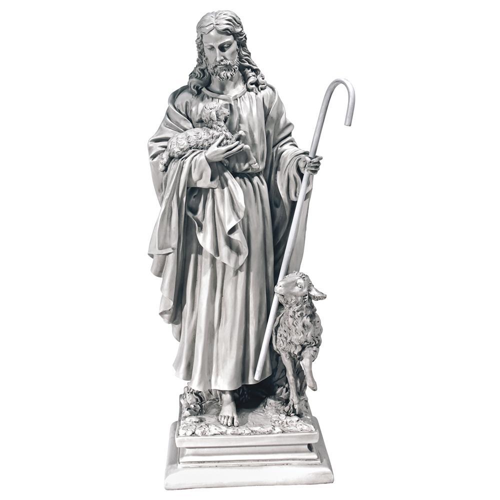 28 in. H Jesus The Good Shepherd Large Garden Statue