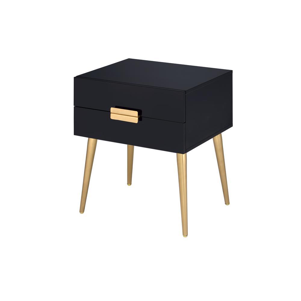 Denvor Black and Gold End Table