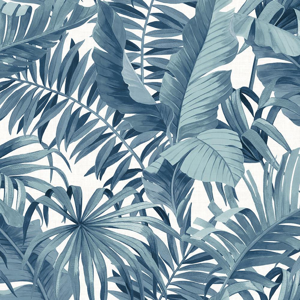 30.75 sq. ft. Blue Maui Peel and Stick Wallpaper