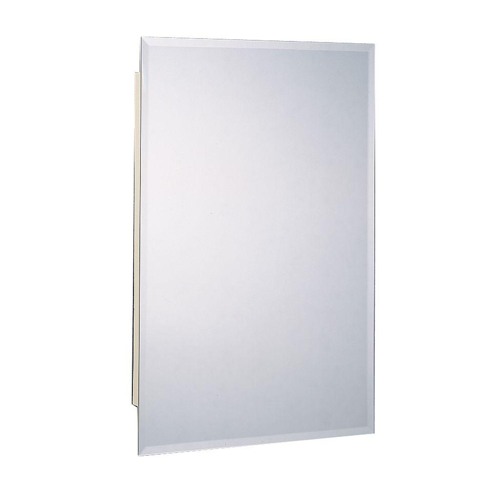 sports shoes a2036 6f981 Zenith 16 in. W x 26 in. H Frameless Beveled Mirrored Recessed Mount  Medicine Cabinet in Silver Metallic